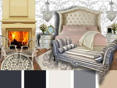 A French inspired bedroom design #french #moodboard #inspired