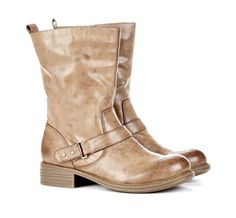 yes please!! Taupe Motorcycle Boots $59.95