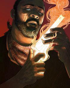 I LOVE THIS.  Idris Elba as Roland Deschain: Alex Rodway #darktower #thegunslinger