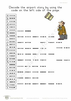 """In the """"Airport Code Story"""" worksheets, the student must decode the story using the code list. Learning For Life, Visual Learning, Figure Ground Perception, Occupational Therapist, Decoding, Comprehension, Worksheets, Teacher, Relationship"""