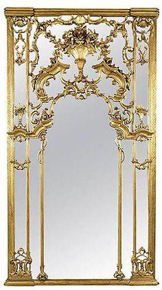 Louis XVi gilt antique mirror...wow its gorgeous! Aff
