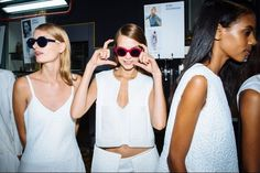 Backstage at Preen S/S 2014
