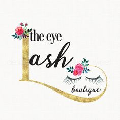 eyelash extension salon logo design beauty by stylemesweetdesign