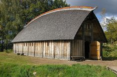 Reconstructed Viking farm in Ale near Göteborg, Sweden