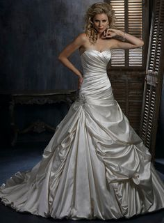 A Line Sleeveless Satin Floor Length Bridal Gown Beautiful Maggie Sottero Dress Named Kendra I Love This