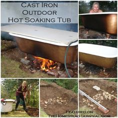 Claw Foot Cast Iron Outdoor Hot Soaking Tub Project