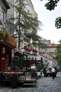 Belgrade, Serbia - Skadarlija is main bohemian quarter of Belgrade, styled as the Belgrade Montmartre.