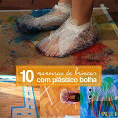 Este post vem com uma lista de 10 maneiras incríveis de brincar com plástico bolha. Funciona com crianças de todas as idades.