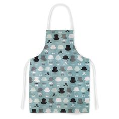 Kess InHouse Heidi Jennings 'Hats Off To You' Blue Grey Artistic Apron