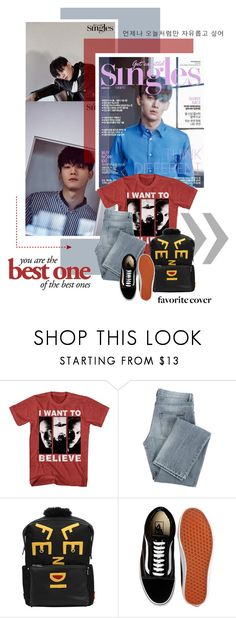 """2017.200 : Chen"" by oh-pororo ❤ liked on Polyvore featuring Givenchy, Fendi, Vans, men's fashion, menswear, EXO, chen, singlesmagazine and pororo_favcover"