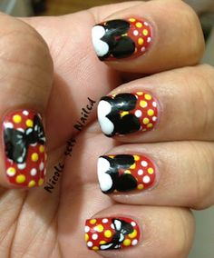 Mickey Mouse Inspired Nail Art