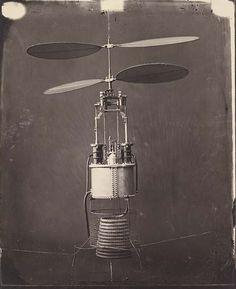 """""""La chère hélice conçue par Gustave Ponton d'Amécourt"""". Gaspard-Félix Tournachon. June 1863. Bibliothèque Nationale de France."""