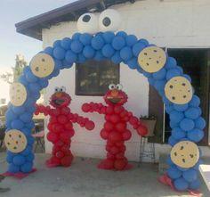 Arco monstruo de las galletas   -   Cookie monter arch