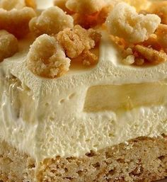 """Don't let those ripe bananas go to waste! Mash them up for these creamy dessert squares that have a yummy layer of sugar cookie on the bottom. Bananas and banana pudding takes them to the next level. Betty member Letsgopens served this as an Easter dessert and got a great response: """"This recipe is a new favorite. Easier than banana pudding because you don't need a bowl. A little sweeter but in a GOOD way."""""""