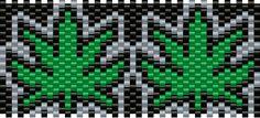 Weed kandi cuff pattern