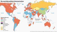 FAZ-  14.10.2013 · Die Internet-Weltordnung: Englische Wissenschaftler haben mit einer Landkarte deutlich gemacht, welche Internetseiten in einzelnen Ländern am häufigsten genutzt werden. Das Ergebnis: Die Welt zerfällt in Blöcke.