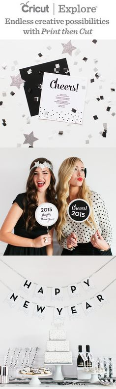 Enter to WIN a Cricut Explore! The new Print Then Cut system is amazing! Details on the blog: http://www.thetomkatstudio.com/new-years-eve/