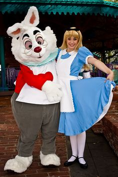 The White Rabbit & Alice @ The Magic Kingdom I have a pic with them :D