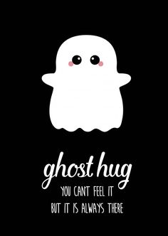 POSTCARD GHOST HUG - Postcard ghost hug Postcard ghost hug is the perfect card for every friend, who you just can& - Cute Puns, Funny Puns, Funny Quotes, Words Quotes, Wise Words, Sayings, Ghost Hug, Cute Ghost, Thinking Of You Quotes