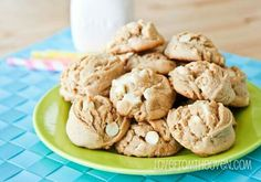 Peanut and  white chocolate  cookies