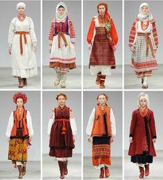 Ukrainian mosaic: five unique ethnic groupsEuromaidan Press Ukraine, Folk Fashion, Ethnic Fashion, Fashion Art, Historical Costume, Historical Clothing, Traditional Fashion, Traditional Dresses, Mode Russe