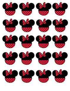 Instant Download Minnie Mouse Birthday Cupcake by DecorAtYourDoor