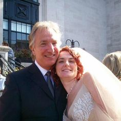 ❤️Alan Rickman❤️ — desperatemurph: Alan with his niece Sarah at her...