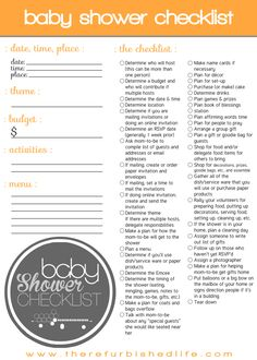 baby shower checklist | www.therefurbishedlife.com | Host your next baby shower with this complete baby shower checklist!