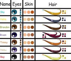 hair color palette