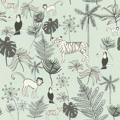 Rasch Bambino XVIII by studio Claas behang Jungle 531800 Tier Wallpaper, Bathroom Wallpaper, Wallpaper Samples, Wallpaper Online, Animal Wallpaper, Wallpaper Roll, Wall Wallpaper, Green Wallpaper, Green Animals