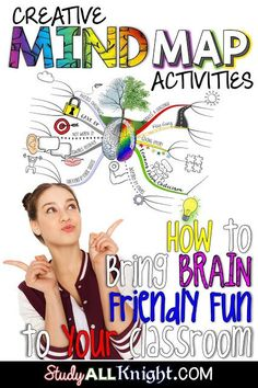 Using mind mapping is a great way to get your upper elementary, middle school, & high school students engaged in learning! It allows students to doodle while adding pictures & visuals to their work. It's an inspiring & logical way to engage students in note taking. It also maps out ideas so they can recall material! Use this post to learn all about creative mind map lessons & how they can help students with brainstorming, problem solving, memorization, planning, researching,