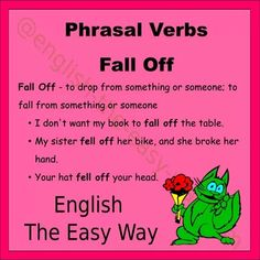 Did the _____ fall off the table? 1. books 2. food 3. both  #PhasalVerbs