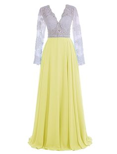 """Wedtrend Women's Prom Dress Long Evening Dress with Lace WT11030 Yellow 26W. Please Use The Size Chart Image on the Left. Do not use Amazon's """"Size Chart"""" link. Lace decoration, V-neck and backless stylish. Hand wash in warm water. Hang to dry. Iron under warm and low temperature. Padded bra for """"no-bra"""" option. Ignore the time set automatically by Amazon. Processing needs 7-10 days. Delivery takes 3-5 days."""