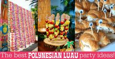 Everything you need for the perfect luau party! Make an island paradise with ideas for tropical decor, tiki cocktails, and Hawaii-inspired party foods.
