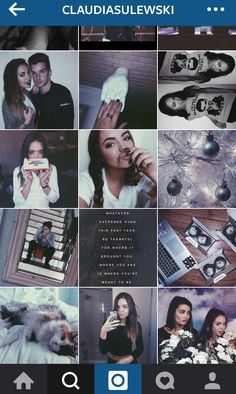 Claudia sulewski Instagram    Theme - blue, purple and white with clear precisely placed pictures. One of my fave themes @blackswanballet