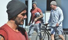 David Beckham and Guy Ritchie enjoy workout at Barry's Boot Camp