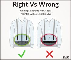 Men's fashion rules can be quite subjective. But a few menswear guidelines shouldn't be broken. Here are the top 5 style mistakes men make. Men's style fau pas to avoid. Mens Style Guide, Men Style Tips, How To Wear Suspenders, Stylish Men, Men Casual, Real Men Real Style, Man Dressing Style, T Shirt Designs, Mens Fashion Suits
