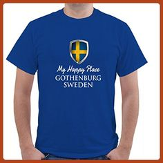 MY HAPPY PLACE SWEDEN GOTHENBURG Unisex Short Sleeve T Shirt - Cities countries flags shirts (*Partner-Link)