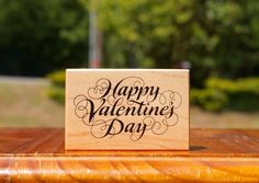Happy Valentine's Day Cursive Wood Mounted Rubber Stamp 1993 by PSX # F-1148  | eBay