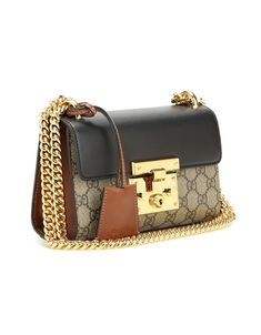 6229c1477e9 GUCCI Padlock GG Supreme leather and coated canvas shoulder bag