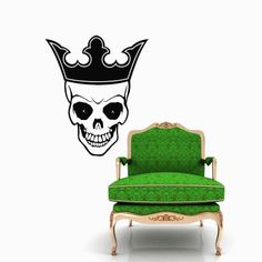 King Skull with Crown Wall Vinyl Decals Sticker Home Interior Decor for Any Room Housewares Mural Design Graphic Bedroom Wall Decal (5694) stickergraphics http://www.amazon.com/dp/B00K75YK3G/ref=cm_sw_r_pi_dp_zvPVtb1ZPD0J0HX4