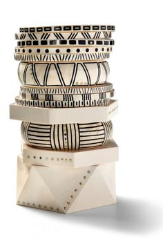Monique Pean Spring 2012. Classic black and white - African inspired. OMG how I love this!
