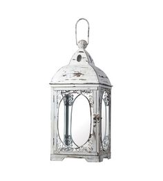 Lighting New York | Sterling Industries 18 White Hurricane Lantern Decorative Accessory in Weathered White 51-10022