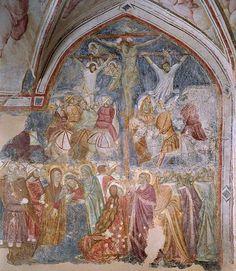 Crocefissione attribuita a Roberto d'Oderisio. Chiostro di Amalfi.