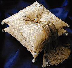 ateliersarah's ring pillow/タッセル付き2段の和風リングピロー