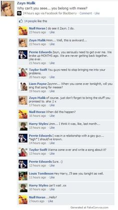 HAHAHA!! Me: Lol..Niall. Oh Perrier *chokes*ahhaakkakk ohmygod lol