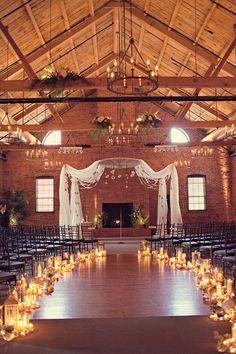 Rennie + Dawn - Brooke Courtney Photography / Ceremony Wedding / Candles / DIY / Cork Factory Hotel
