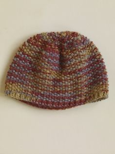 Seed Stitch Hat--my favorite stitch! Perfect for showing off hand-dyed yarns.
