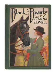 Lovely old book cover. Get more free teaching aids and homework resources for Black Beauty by Anna Sewell at www.LitWitsWorkshops.com/free-resources/ We also offer hands-on, sensory enrichment guides!