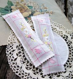 vintage hankies made into lavender sachets - on etsy